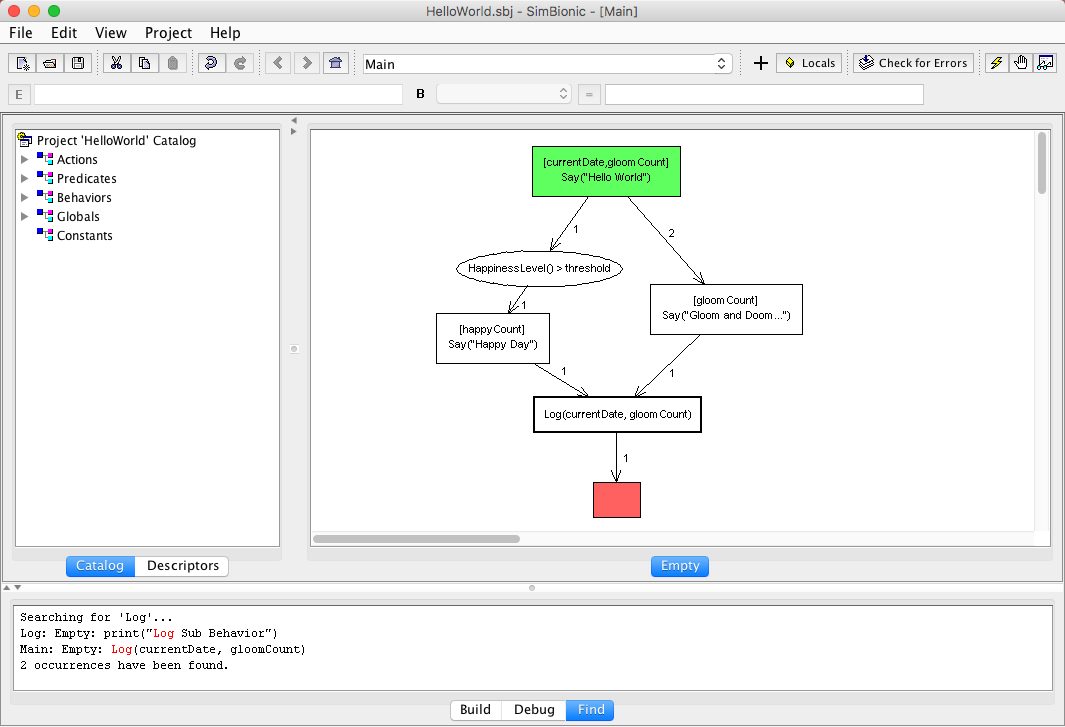 The SimBionic Visual IDE Enables Visual Specification of Intelligent Behaviors